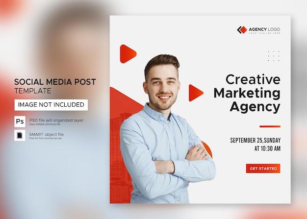 Digitale marketing bedrijf webinar social media postsjabloon premium psd