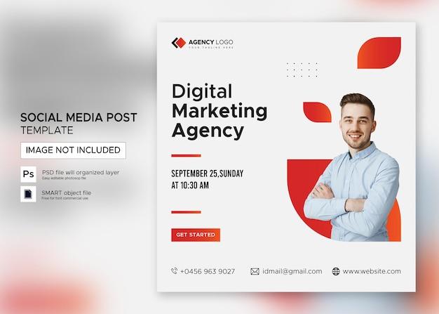 Digitale marketing business webinar social media post premium psd