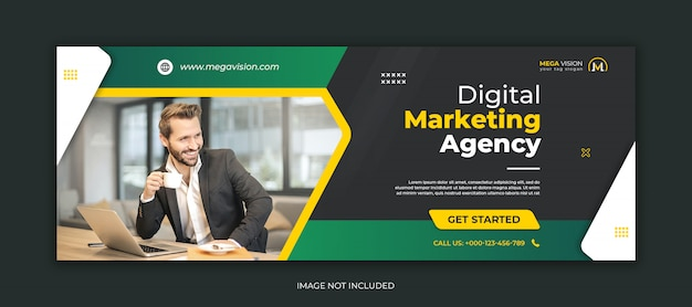Digitale marketing corporate facebook voorbladsjabloon