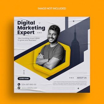 Digitale marketing instagram-post of vierkante webbannersjabloon