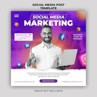 Digitale marketing live webinar-promotie social media post-bannersjabloon