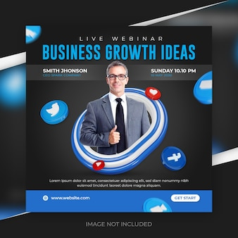 Digitale marketing live webinar-promotie social media postsjabloon