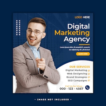 Digitale marketing social media bannerontwerp premium psd