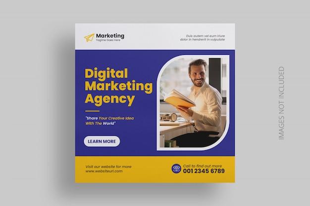 Digitale marketing social media post-sjabloon