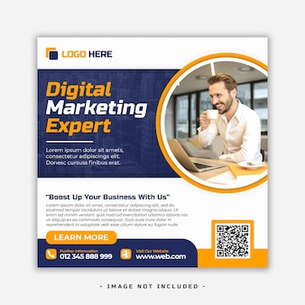 Digitale marketing sociale media banner ontwerpsjabloon psd