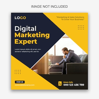 Digitale marketing sociale media en facebook-postsjabloon
