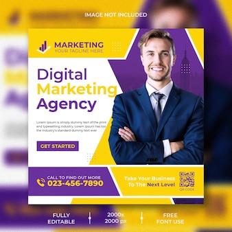 Digitale marketing sociale media en instagram postsjabloon