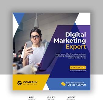 Digitale marketing sociale media, instagram, webbanner of vierkante flyer-sjabloon