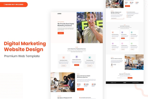 Digitale marketing website ontwerpsjabloon