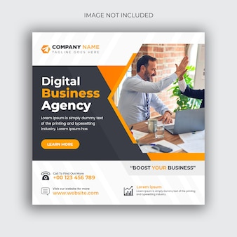 Digitale marketing zakelijke sociale media post en webbannersjabloon