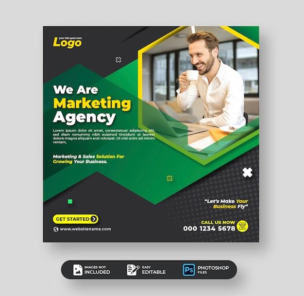 Digitale marketing zakelijke sociale media post sjabloon