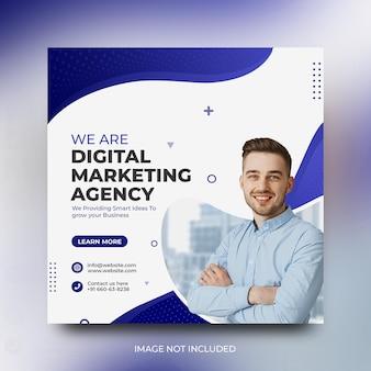 Digitale marketing zakelijke sociale media-promotie en instagram-postsjabloon gratis psd