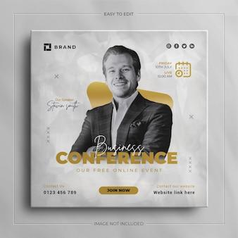 Digitale marketing zakelijke webinar conferentie sociale media post banner
