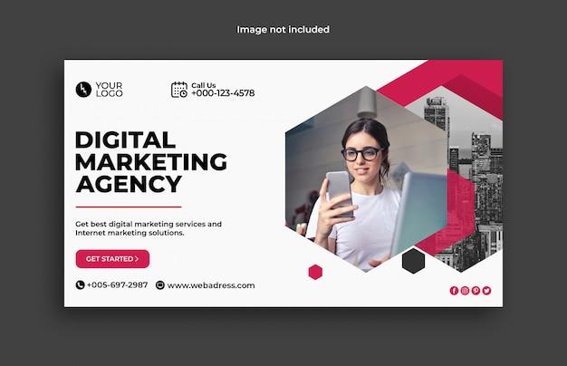 Digitale marketing zakelijke websjabloon voor spandoek