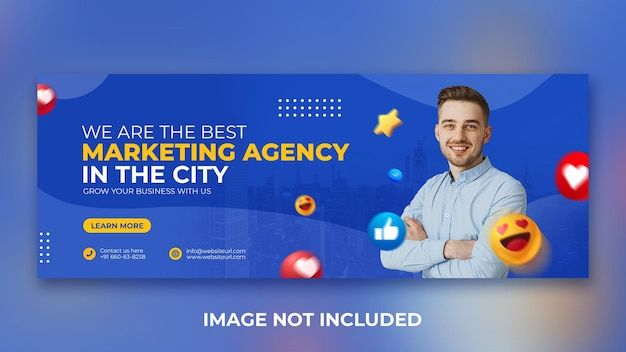 Digitale marketingbureau promotie social media post facebook omslagontwerpsjabloon