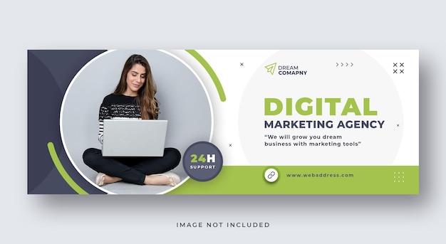 Digitale marketingbureau social media cover webbanner