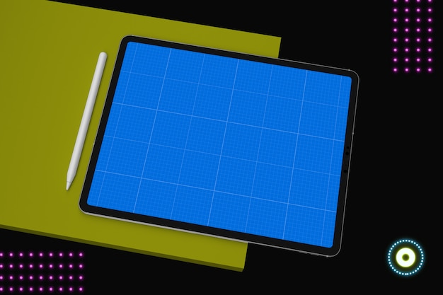 Digitale tablet met mockup-scherm