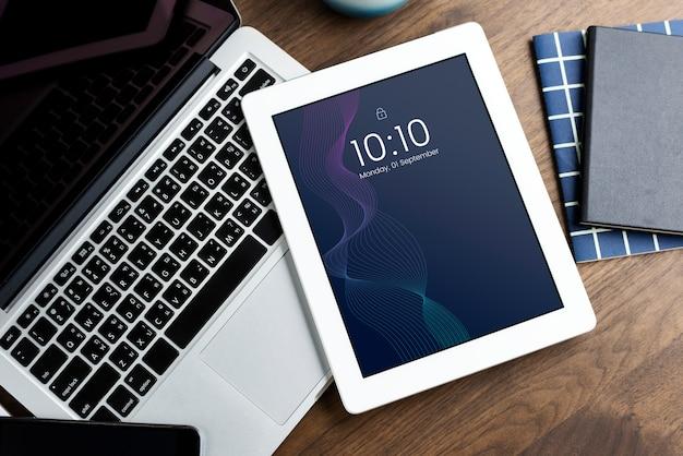 Digitale tablet-scherm mockup sjabloon
