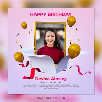 Digitale verjaardagsviering social media post