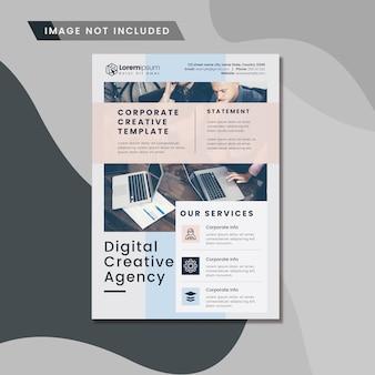 Digitale zakelijke folder