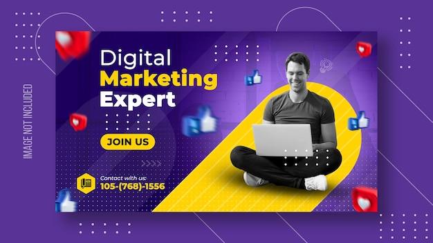 Digitale zakelijke marketing en websjabloon voor spandoek