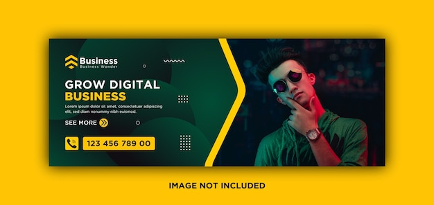 Digitale zakelijke marketing facebook-omslag en webbannermalplaatje