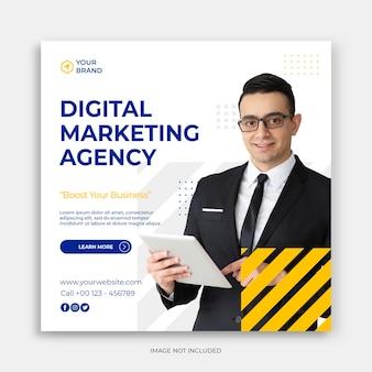 Digitale zakelijke marketing social media post banner of vierkante flyer