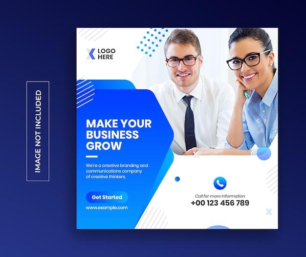 Digitale zakelijke marketing sociale media banner vierkante flyer