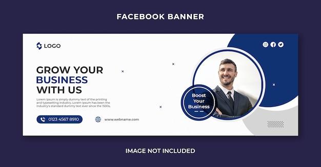 Digitale zakelijke marketing sociale media, facebook-tijdlijnomslag en webbannersjabloon