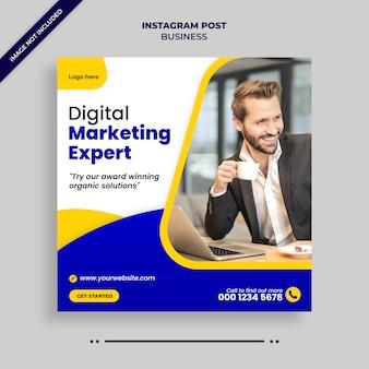 Digitale zakelijke marketing sociale media, instagram, webbanner of vierkante flyer-sjabloon