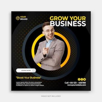 Digitale zakelijke marketing vierkante flyer sjabloon social media post
