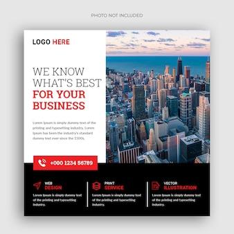 Digitale zakelijke marketing vierkante flyer