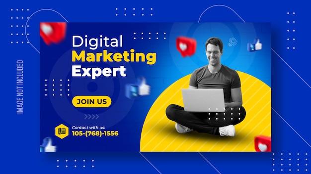 Digitale zakelijke marketing websjabloon voor spandoek