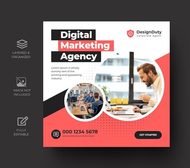 Digitale zakelijke marketingpromotie sociale media postsjabloon
