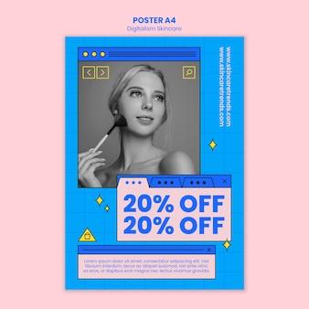 Digitalisme huidverzorging poster concept