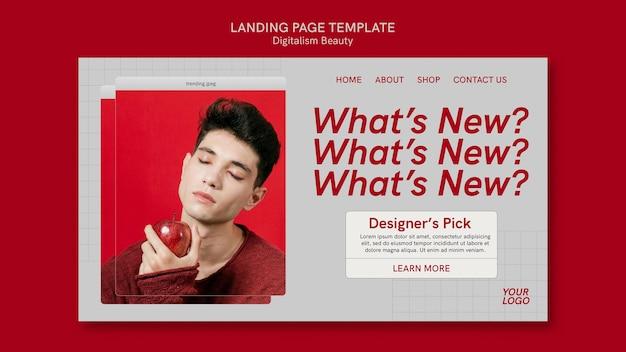 Digitalisme schoonheid websjabloon