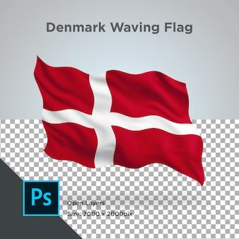 Dinamarca flag wave transparente psd