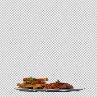 Diner plate render 3d