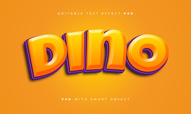 Dino-teksteffect