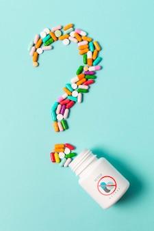 Dipendenza da pillole con il concetto mock-up