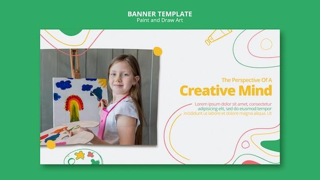Dipingere e disegnare il tema del modello di banner art