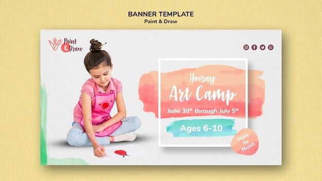 Dipingere e disegnare un modello di banner