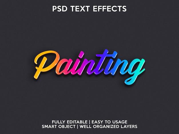 Dipingere effetti di testo