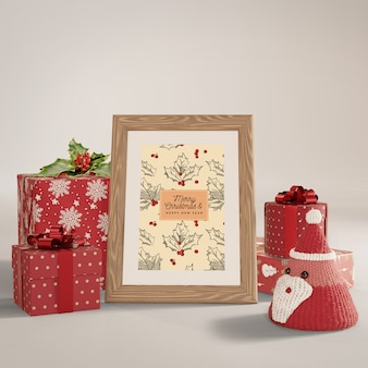 Dipingere in giro con regali incartati