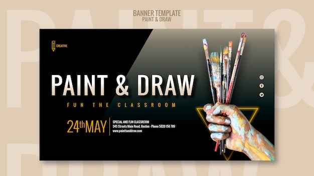 Dipingi e disegna il banner dell'aula