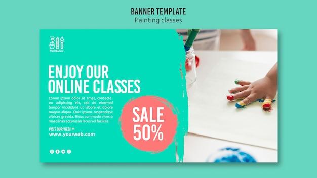 Dipingi e disegna il design del banner