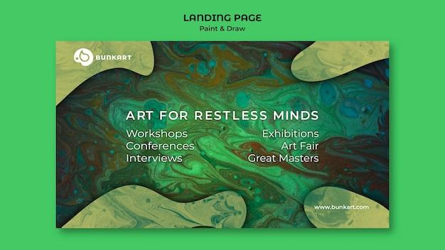 Dipingi e disegna il design della landing page