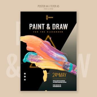 Dipingi e disegna il poster dell'aula