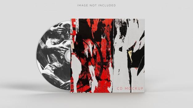 Disco cd, modello di copertina su bianco