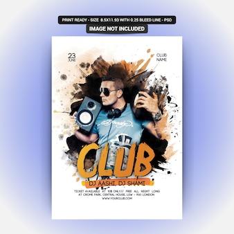 Disco party flyer mockup
